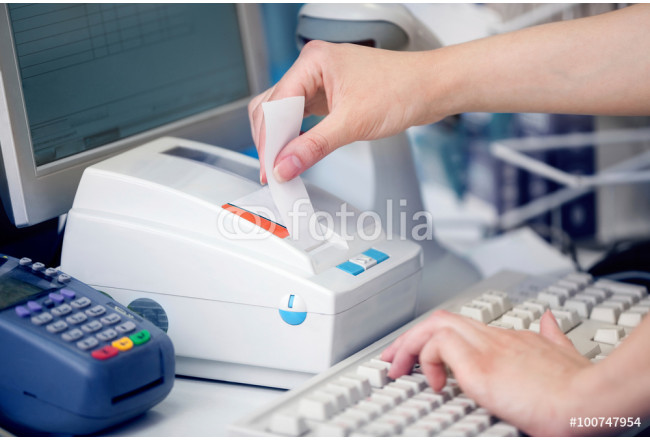POS Terminal Transaction. Hand Swiping a Credit Card. 64239