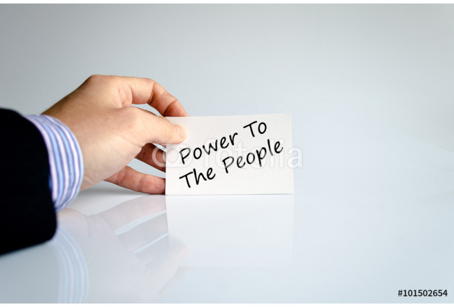 Power to the people text concept 64239
