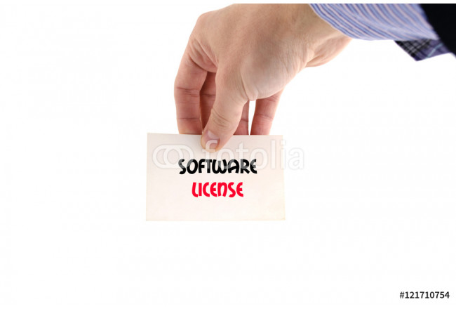 Software license text concept 64239