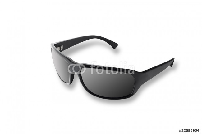 Black clean sunglasses on white background 64239
