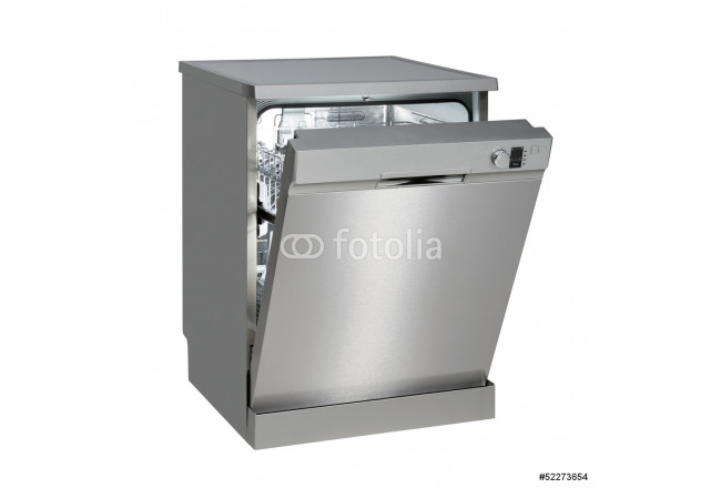 Freestanding dishwasher on white with clipping path. 64239