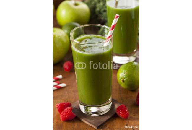 Healthy Green Vegetable and Fruit Smoothi Juice 64239