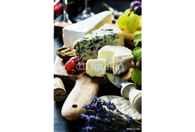 Painting Wine, grape and cheese 64239