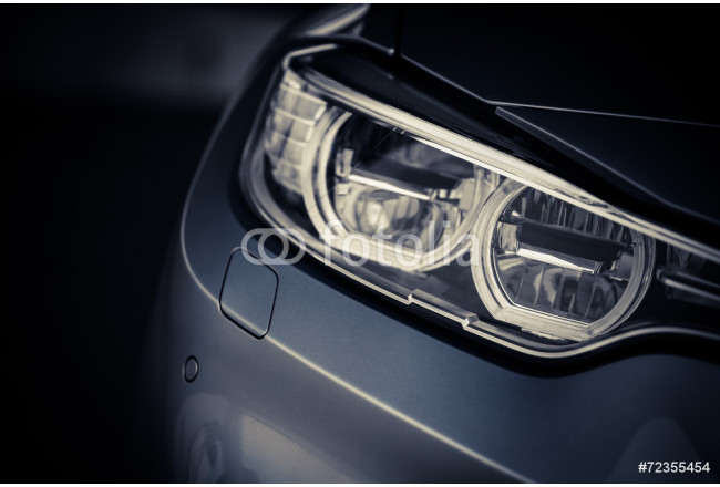 Led Licht Schoenen : Bild auf leinwand car led headlight die schönen wohnaccessoires