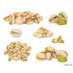 Set ripe pistachio nuts (isolated) 64239