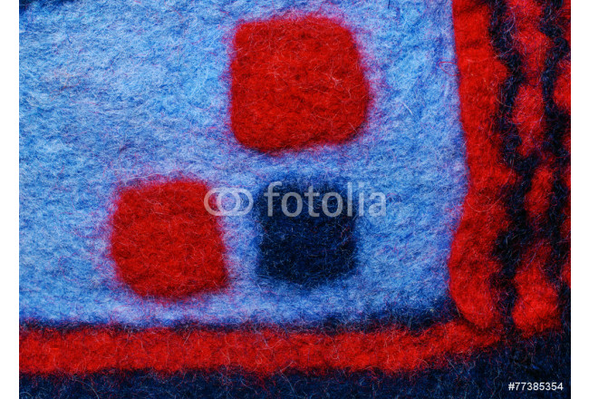 Multicolored square fabric texture of wool. 64239