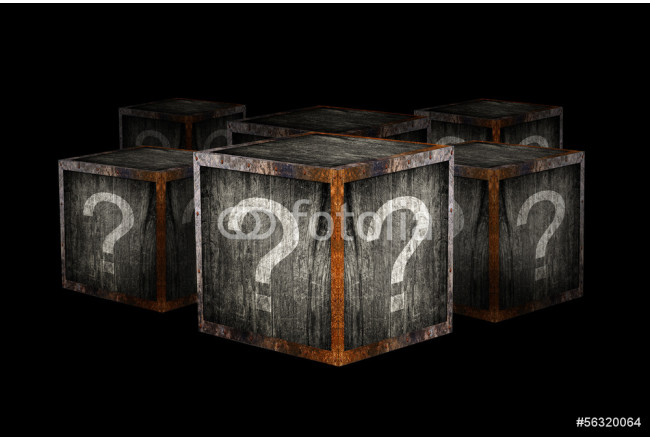Toile déco Mystery boxes 64239