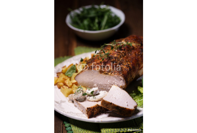 oven baked pork loin with potatoes 64239