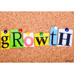 The word GROWTH on a bulletin board 64239