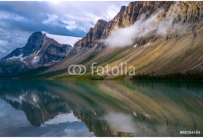 stormy reflections, bow lake 64239