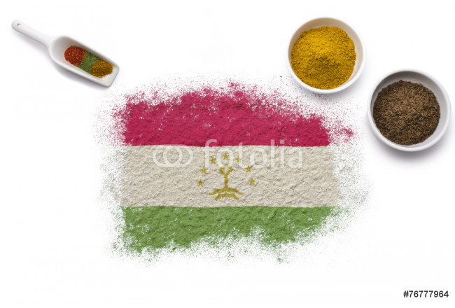 Spices forming the flag of Tajikistan.(series) 64239