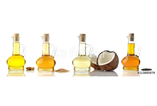 Cooking Oils / High resolution image of various cooking oils on white background 64239