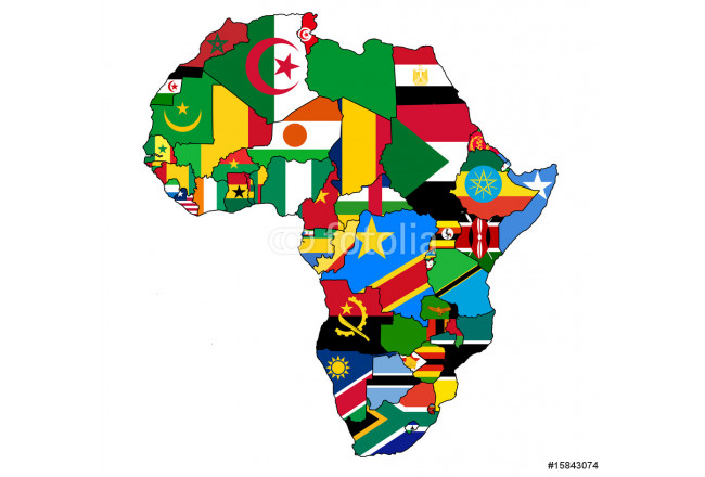 africa political map flags 64239