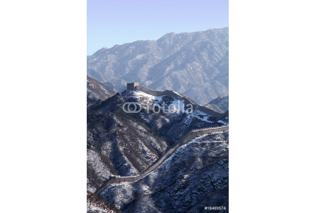 the Great Wall with snow left 64239