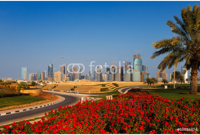 Painting QP District, Situated in the West Bay area of Doha, Qatar 64239