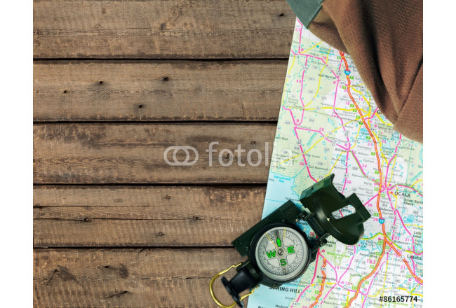 Camping, Hiking, Compass. 64239