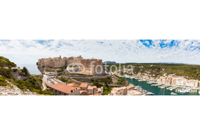 Panoramic View of Bonifacio old town built on top of cliff rocks 64239