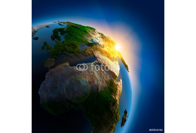 Sunrise over the Earth in outer space 64239