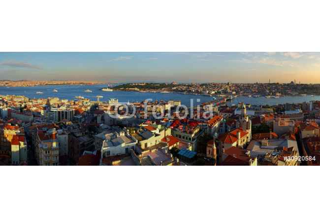 Istanbul Panorama at sunset 64239