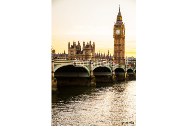 Quadro contemporaneo Big Ben Clock Tower and Parliament house at city of westminster, 64239
