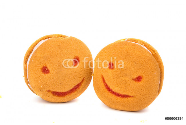 smiley cookies isolated 64239