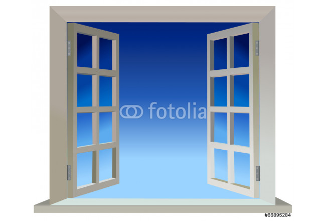 Vector version of opened two parts window 64239