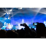 photographing with smartphone during a concert 64239