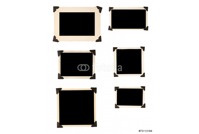 Six Old Photo Frames With Black Corners 64239