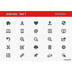 Internet Icons. Professional, pixel perfect icons optimized for both large and small resolutions. EPS 8 format. 64239