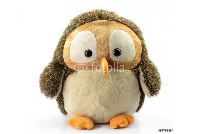 Owl doll on white background 64239