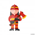 firefighter flat icon 64239