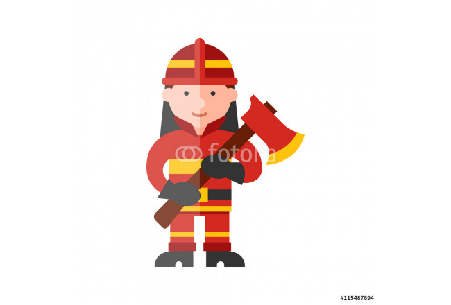 Toile déco firefighter flat icon 64239