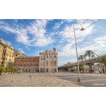 GENOA (GENOVA), JULY 19, 2017 - View of Caricamento square, important place near the ancient port (porto antico) of Genoa, Italy 64239