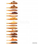 Spice collection on white background 64239