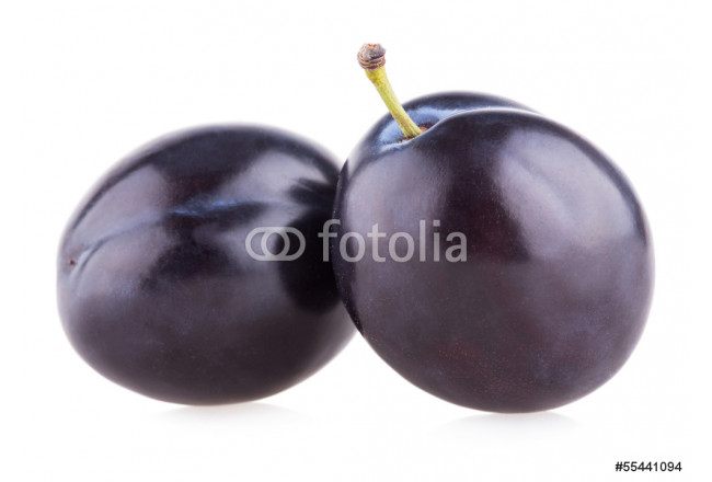 violet plums isolated on white background 64239