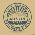 Grunge rubber stamp with name of Austin, Texas 64239