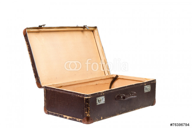 Old suitcase. Vintage style 64239