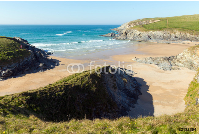 Porth Joke beach by Crantock North Cornwall UK 64239