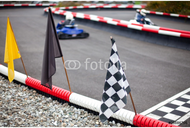 flags and cars on carting carting 64239