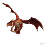 red dragon flying side view 64239