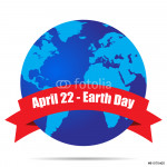 Earth Globe, Earth Day April 22 vector illustration 64239