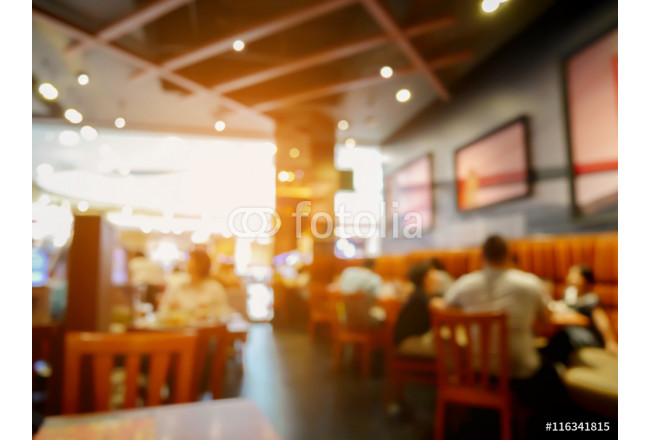 Customer in restaurant blur background with bokeh 64239