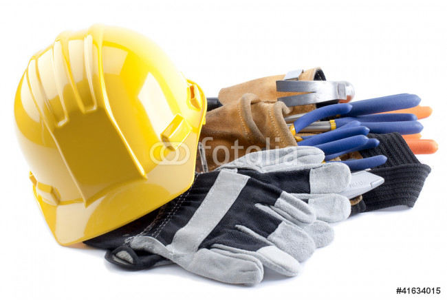 hard hat and gloves 64239