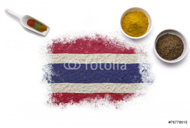 Spices forming the flag of Thailand.(series) 64239