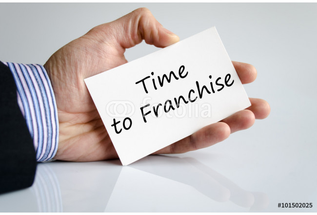 Time to franchise text concept 64239