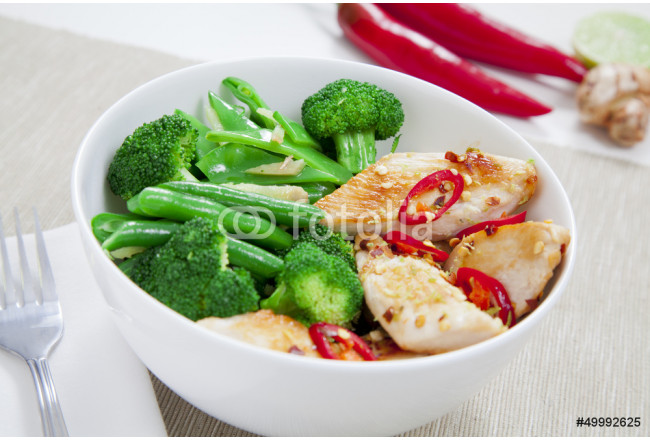 Chicken with greens 64239