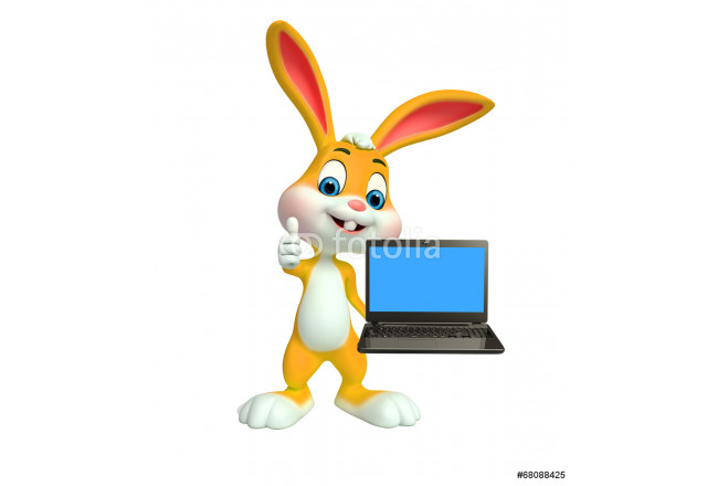 Easter Bunny with laptop 64239
