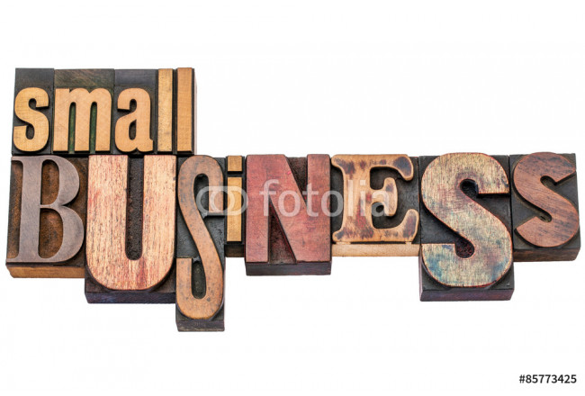 small business typography in wood type 64239