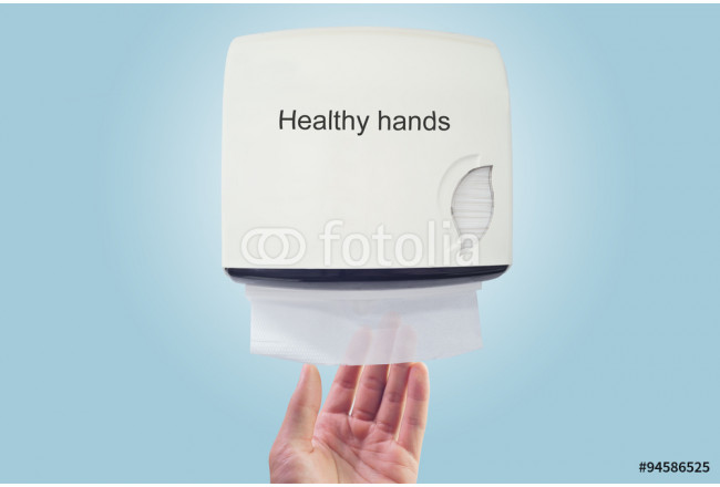 Healthy hand : use paper from dispenser 64239