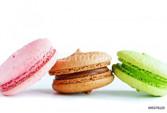 Three colorful macaroons 64239